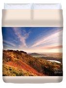Autumn Sunset At Sutton Bank Duvet Cover