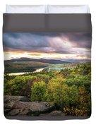 Autumn Sunset In The Catskills Duvet Cover