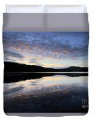 Autumn Sunset, Ladybower Reservoir Derwent Valley Derbyshire Duvet Cover