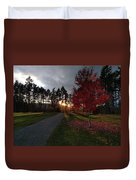 Autumn Sunset, Shawnigan Lake Duvet Cover