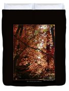 Autumn Sunshine Poster Duvet Cover