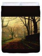 Autumn Sunshine Stapleton Parknear Pontefract  Duvet Cover