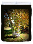 Autumn Sycamore Tree Duvet Cover