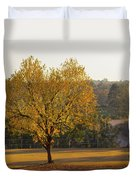 Autumn Tree At Sunset Duvet Cover