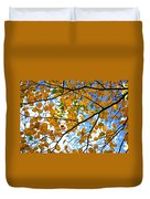 Autumn Tree Branches Duvet Cover by Elena Elisseeva