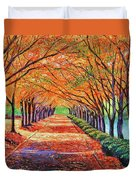 Autumn Tree Lane Duvet Cover