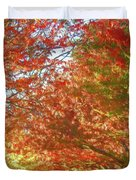 Autumn Trees Digital Watercolor Duvet Cover