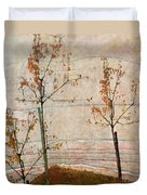 Autumn Trees Duvet Cover by Egon Schiele