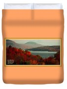 Autumn Trees Near A River H A With Decorative Ornate Printed Frame. Duvet Cover