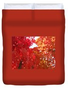 Autumn Trees Red Orange Fall Trees Art Baslee Troutman Duvet Cover