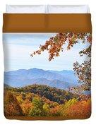 Autumn View Of The Smokies Duvet Cover