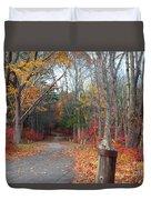 Autumn Walk At West Thompson Lake  Duvet Cover