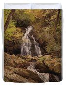 Autumn Waterfall In The Great Smoky Mountains Duvet Cover