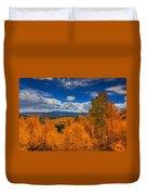 Autumn Wildfire At Ohio Pass Duvet Cover