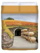 Autumn Wine Cave Duvet Cover