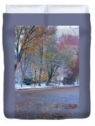 Autumn Winter Street Light Color Duvet Cover