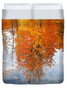 Autumn With Colorful Foliage And Water Reflection 19 Duvet Cover