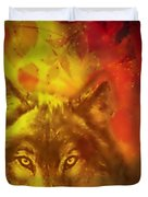 Autumn Wolf Duvet Cover