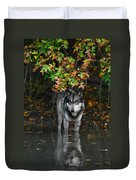 Autumn Wolf Duvet Cover
