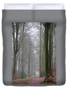 Autumn Woodland Avenue Duvet Cover