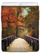Autumn Woodland Crossing Duvet Cover