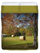 Autumnal Scenery Along Helmstetler Road Duvet Cover