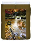 Autumnal Waterfall Duvet Cover
