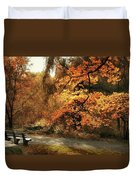 Autumn's Audience Duvet Cover