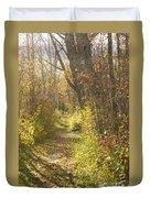 Autumns Path Duvet Cover