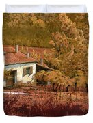 Autunno Rosso Duvet Cover