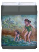 Ava And Friend Duvet Cover
