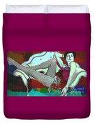 Ava Gardner - Pop Art Duvet Cover