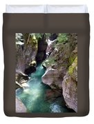 Avalanche Creek Glacier National Park Duvet Cover