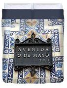 Avenida 5 De Mayo Duvet Cover
