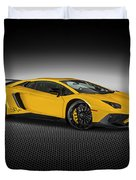 Aventador Lp 750-4 Sv New Giallo Orion Duvet Cover
