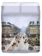 Avenue De L'opera - Effect Of Snow Duvet Cover