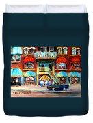 Avenue Du Parc Cafes Duvet Cover