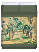 Avenue Of Chestnut Trees At The Jas De Bouffan Duvet Cover