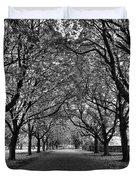 Avenue Of Trees Monochrome Duvet Cover