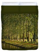 Avenue Of Trees On The Kennet And Avon Canal Duvet Cover