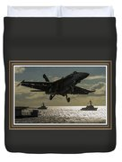 Aviation Art Catus 1 No. 26 L B With Decorative Ornate Printed Frame. Duvet Cover