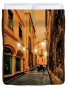Avignon Alley At Sunset Duvet Cover