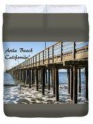 Avila Pier Avila Beach California Duvet Cover