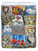 Awesome Hearts - Collage Duvet Cover