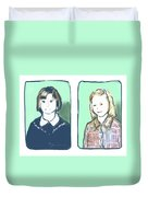 Awkwardness Of Youth Duvet Cover