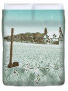 Axe In The Snow Duvet Cover