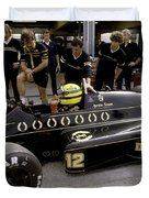 Ayrton Senna. 1986 German Grand Prix Duvet Cover