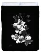 Azaela Blossom In Black And White Duvet Cover