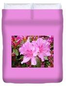 Azalea Garden Art Prints Pink Azaleas Flowers Baslee Troutman Duvet Cover