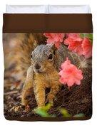 Azalea Squirrel Duvet Cover